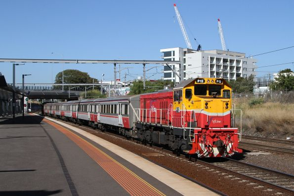 P12 leads a down push-pull service into Footscray