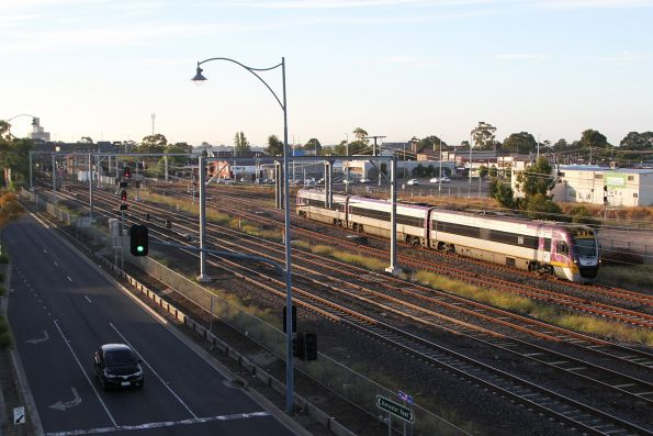 VLocity VL16 departs Sunshine on a down Bendigo service