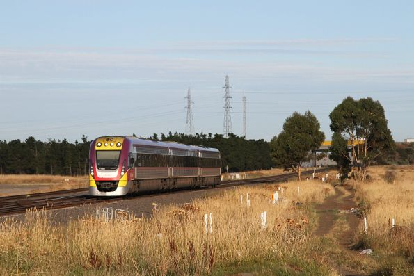 VLocity VL49 approaches Deer Park Junction with an up Ballarat service