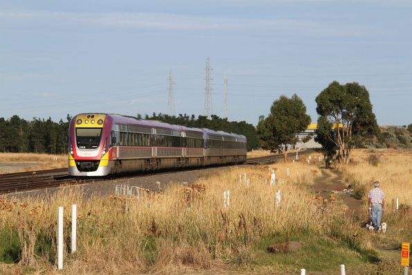 VLocity VL42 approaches Deer Park Junction with an up Ballarat service