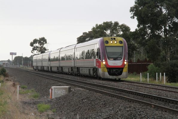 VLocity VL51 and classmate pass through Ardeer on the up