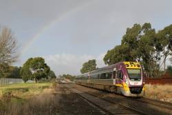 VLocity VL15 beneath a rainbow on the down at Ardeer