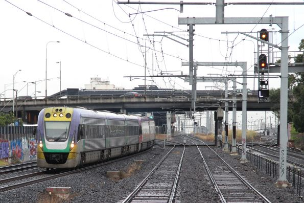 VLocity VL23 and classmate pass Middle Footscray on the up