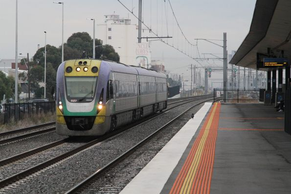 VLocity VL27 solo on the up at West Footscray