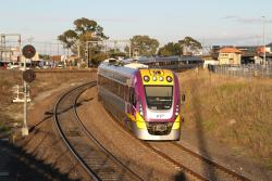 VLocity VL65 leads a down service out of Sunshine station