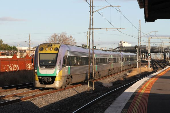 VLocity VL38 and classmate on the up at Middle Footscray