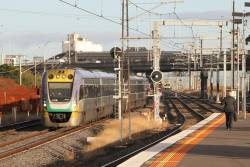 VLocity VL19 and classmate on the up at Middle Footscray