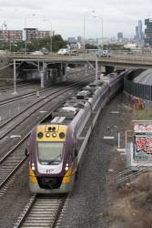 VLocity VL13 and classmate pass through West Footscray on the down