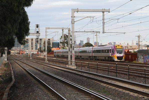VLocity VL60 leads a down service past Middle Footscray station
