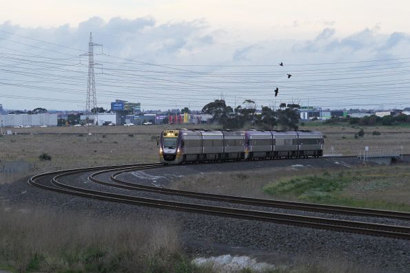 VLocity VL03 and classmate head for Tarneit at Deer Park Junction