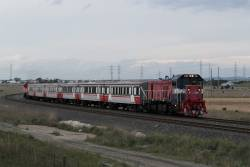 P14 leads a down Wyndham Vale service out of Deer Park Junction