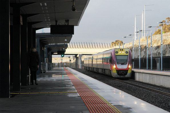 VLocity VL45 and VL59 arrive into Wyndham Vale station on the down
