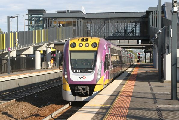VLocity VL15 passes through Sunshine with an up Bendigo service