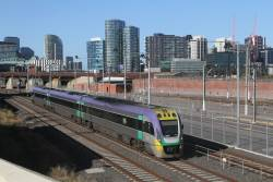 VLocity VL30 passes North Melbourne station