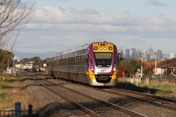 VLocity VL57 and classmate run through Ardeer on the down