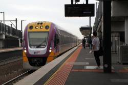 VLocity VL53 on a down Waurn Ponds service at Sunshine