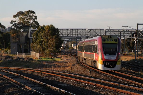 VLocity VL48 on a down Bendigo service at Sunshine