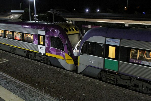 VLocity VL27 and VL73 at Sunshine on a down Waurn Ponds service