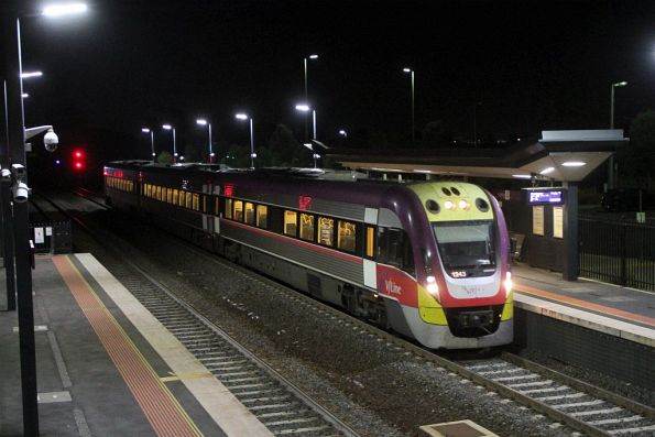 VLocity VL43 arrives into Sunshine on a down Wendouree service