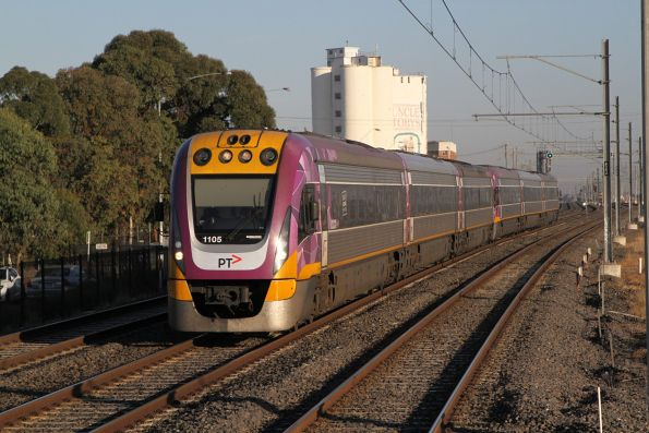 VLocity VL05 and classmate on the up at West Footscray