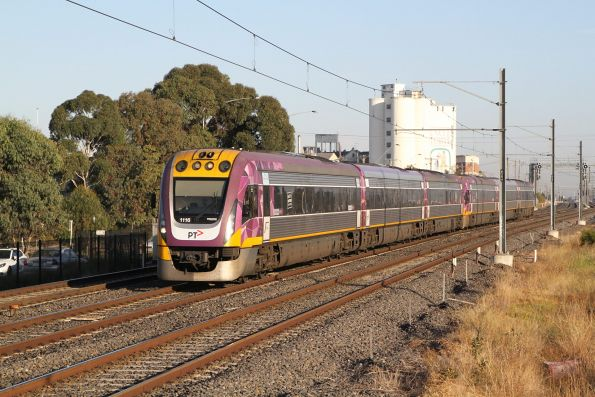 VLocity VL16 and classmate on the up at West Footscray