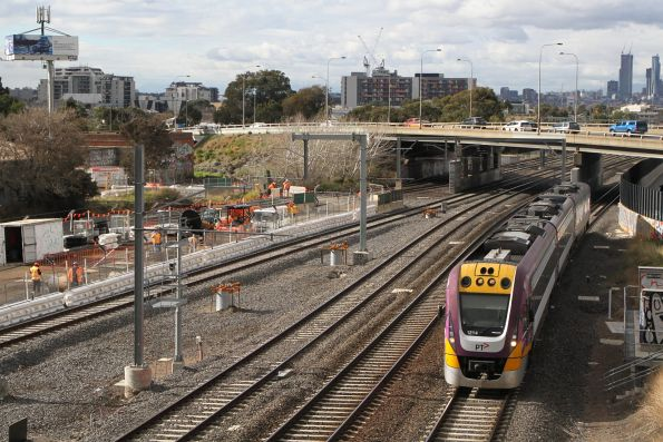 VLocity VL14 heads through West Footscray on the down