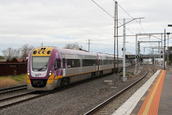 Solo VLocity VL66 on the up at Middle Footscray