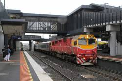 N470 heads through Sunshine on a up Warrnambool service