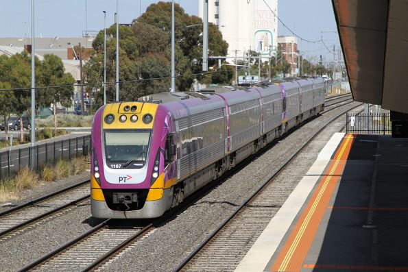 VLocity VL67 and classmate on the up at West Footscray