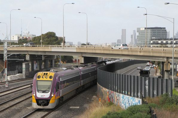 VLocity VL11 and classmate on the down at West Footscray