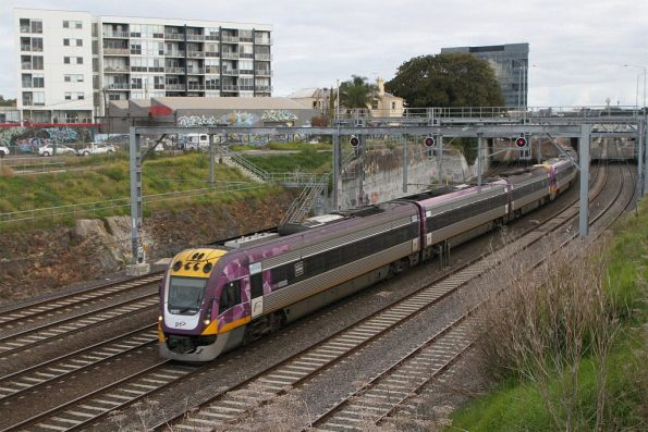 VLocity VL07 and VL79 on the up at Footscray