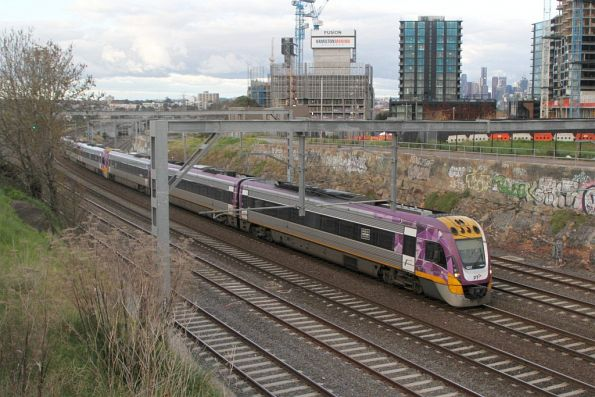 VLocity VL57 and classmate on the down at Footscray