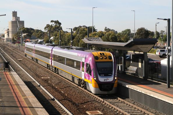 VLocity VL19 on a down South Geelong service at Sunshine