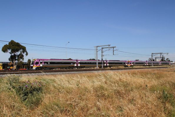 VLocity VL62 and VL80 on an up Waurn Ponds service at Sunshine
