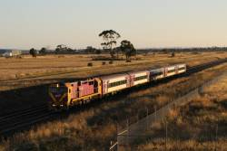 N463 leads an up Geelong service through Truganina