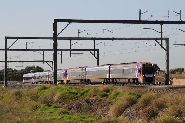 VLocity VL18 leads VL20 on a down empty car move at Susnhine