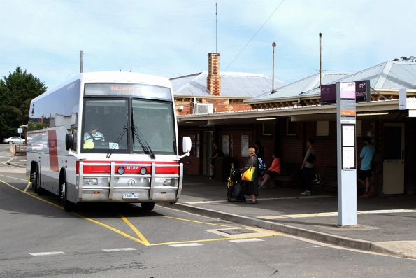 Gold Bus coach  #18 7340AO on a Ballarat service at Ararat station