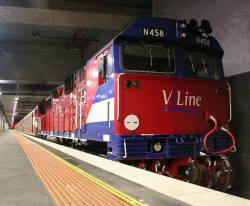 N458 stabled in platform 1 at Southern Cross