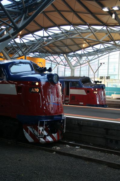 A70 and A62 side by side at Southern Cross Station