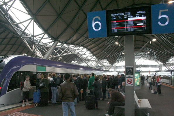 V/Line masters time travel - the 11:00 train is leaving at the same time as the 12:00 service!