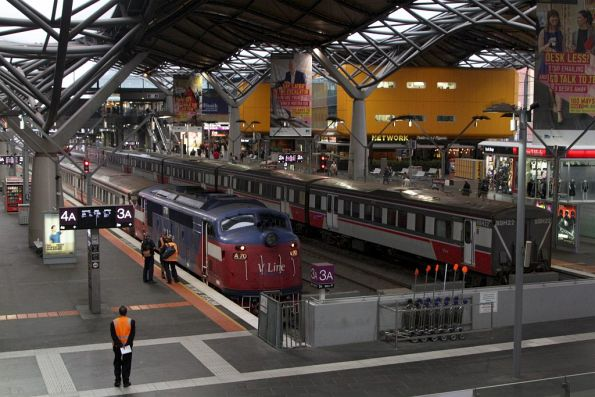 A70 on arrival at Southern Cross with a service from Bacchus Marsh