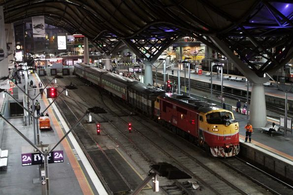 A66 ready to depart Southern Cross with a 3-car N set and power van PH454 on a down Bacchus Marsh service