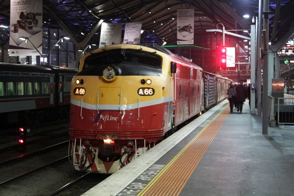 A66 ready to depart Southern Cross for Bacchus Marsh