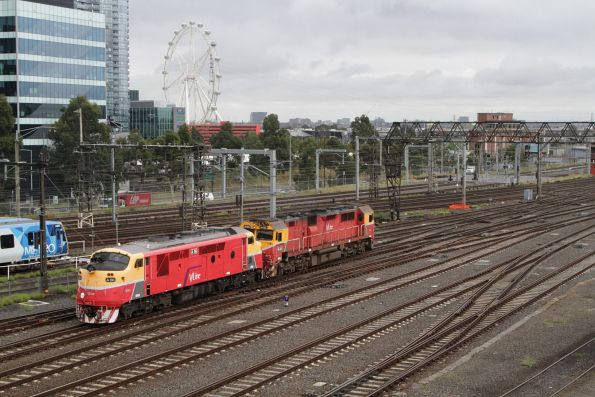 N462 and A66 depart Southern Cross on a test run to Seymour