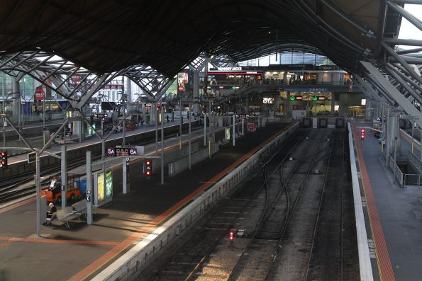 Tail end of morning peak, and every platform at Southern Cross is empty!