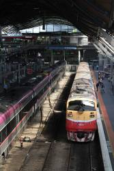 A66 awaiting to depart Southern Cross for Seymour
