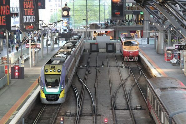 A66 and VLocity VL41 at Southern Cross Station