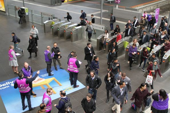 V/Line 'Meet the Managers' event at Southern Cross Station