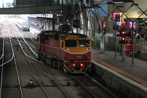 N462 shunts around a carriage set at Southern Cross