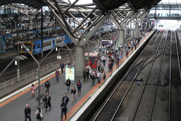Long walk for passengers departing their train at Southern Cross platform 7B